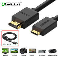 UGREEN 10195 Mini HDMI to HDMI Cable (3ft , 91cm)