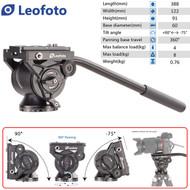 Leofoto BV-10 60mm Flat Base Video Fluid Head