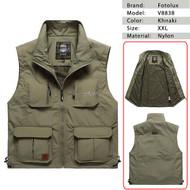 Fotolux V8838 Camera Vest (Khnaki , XXL Size)