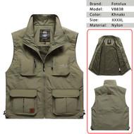 Fotolux V8838 Camera Vest (Khnaki , XXXXL Size)