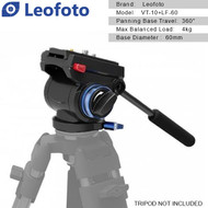 Leofoto VT-10 60mm Flat Base Video Fluid Head