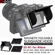 GGSFOTO SS-N1 LCD Magnetic Sunshade Hood for Nikon D5 ,D4 ,D45 ,D850 ,D810, D800, D750, D610