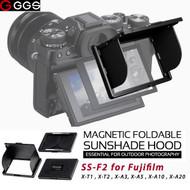 GGSFOTO SS-F2 LCD Magnetic Sunshade Hood for Fujifilm X-T1, X-T2, X-A3, X-A5, X-A10 ,X-A20