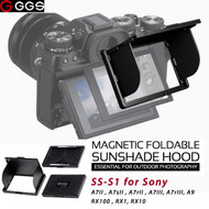GGSFOTO SS-S1 LCD Magnetic Sunshade Hood for Sony A7II, A7sII, A7rII , A7III, A7rIII, A9 ,RX100, RX1, RX10