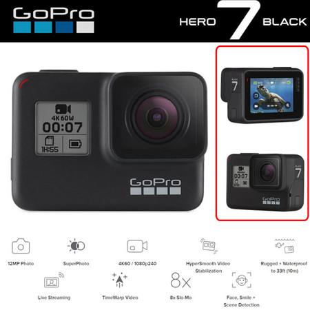 GoPro Hero7 4K HyerSmooth Action Video Camera (Black)