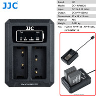 JJC DCH-NPW126 Dual USB Battery Charger for Fujifilm NP-W126 , NP-W126S