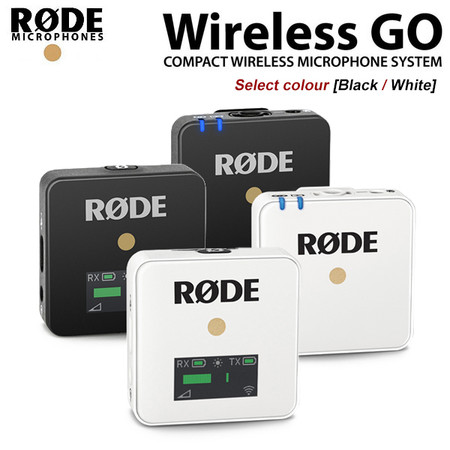 Rode Wireless GO Compact Wireless Microphone [Black / White]