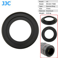 JJC RR-EOS77 Reverse Adapter Ring 77mm for Canon EOS Camera Body (thread)