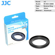 JJC RR-NEX58 Reverse Adapter Ring 58mm for SONY E Mount Camera Body (thread)