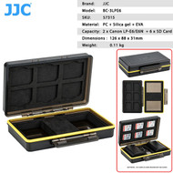 JJC BC-3LPE6 Multi-Function Battery Case for 2 x Canon LP-E6 / E6N + 6 x SD Cards