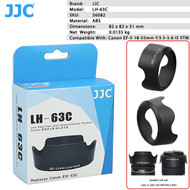 JJC LH-63C Lens Hood for Canon EF-S 18-55mm f/3.5-5.6 IS STM Lens (replaces Canon EW-63C)