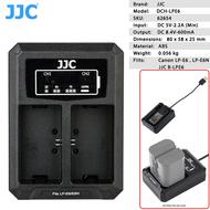 JJC DCH-LPE6 Dual USB Battery Charger for Canon LP-E6 , LP-E6N
