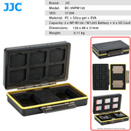 JJC BC-3NPW126 Multi-Function Battery Case for 2 x Fujifilm NP-W126 , W126S Battery + 6 x SD Card