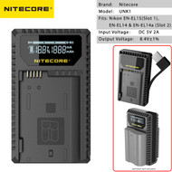 Nitecore UNK1 USB Dual-slot Battery Charger for Nikon EN-EL15(Slot 1), EN-EL14 & EN-EL14a (Slot 2)