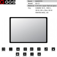 GGSFOTO G5-C1 GEN 5 Metal-border Glass LCD Screen Protector for Canon 1DX II, 5D IV & Pentax 645Z ,K3