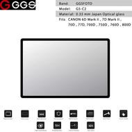 GGSFOTO G5-C2 GEN 5 Metal-border Glass LCD Screen Protector for Canon 6D Mark II , 7D Mark II , 750D , 760D , 800D