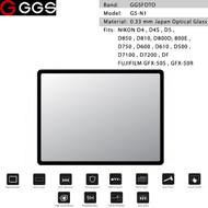 GGSFOTO G5-N1 GEN 5 Metal-border Glass LCD Screen Protector for Nikon D600, D750, D800, D7100 & Fujifilm GFX-50S , GFX-50R