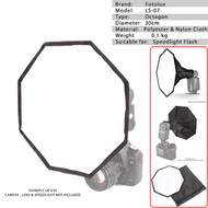 Fotolux LS-07 Octagonal Speedlight Flash Softbox 30cm