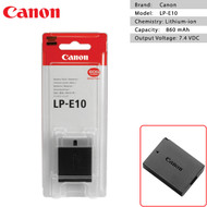 Canon LP-E10 Battery for Canon 3000D 1500D 1300D 1200D 1100D (Genuine)