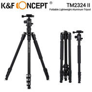 K&F Concept TM2324 II Foldable Lightweight Aluminum Tripod with Ball Head KF09.040