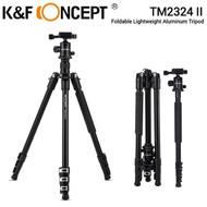 K&F Concept TM2324 II Foldable Lightweight Aluminum Tripod with Ball Head KF09.040