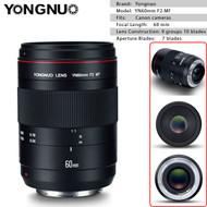Yongnuo YN60mm F2 MF Macro Lens for Canon