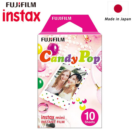 Fujifilm Instax Mini Instant Film (10 Sheets , Candy Pop) 84549 - Made in Japan