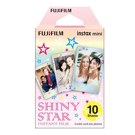 Fujifilm Instax Mini Instant Film (10 Sheets , Shiny Star) 84552 - Made in Japan