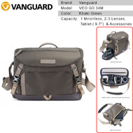 Vanguard VEO GO 34M Camera Shoulder Bag (Khaki Green) V247168