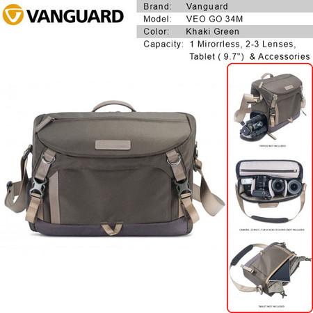Vanguard VEO GO 34M Camera Shoulder Bag (Khaki Green) V247168