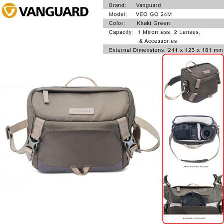 Vanguard VEO GO 24M Camera Shoulder Bag (Khaki Green) V247144