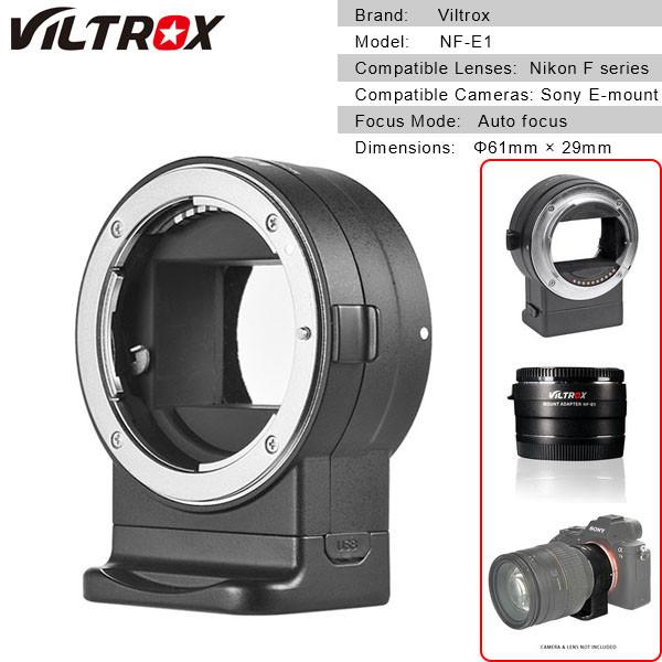 Viltrox NF-E1 Auto Focus Lens Adapter for Nikon F-Mount Lens to Sony  E-Mount Camera