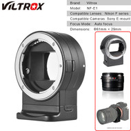 Viltrox NF-E1 Lens Adapter for Nikon F-mount Lens to Sony Camera E-Mount (Auto focus)