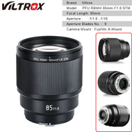 Viltrox PFU RBMH 85mm f/1.8 STM Auto Focus Prime Lens for Fujifilm X-mount Camera