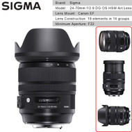 Sigma 24-70mm f/2.8 DG OS HSM Art Lens for Canon EF Camera