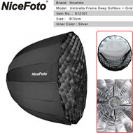 Nicefoto 70cm Umbrella Frame Deep Softbox with Grid 612101