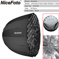 Nicefoto 120cm Umbrella Frame Deep Softbox with Grid 612103