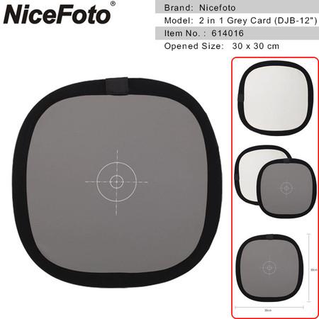 Nicefoto 2 in 1 Grey Card Focusing Panel 30cm 614016