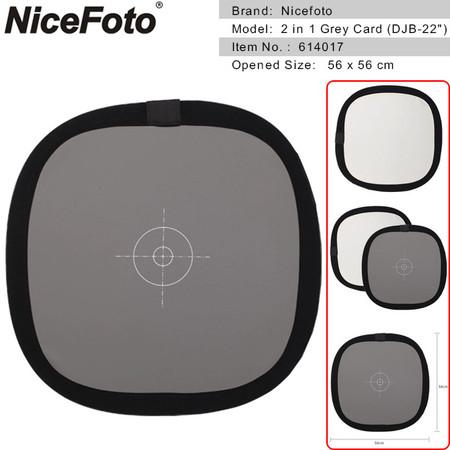 Nicefoto 2 in 1 Grey Card Focusing Panel 56cm 614017