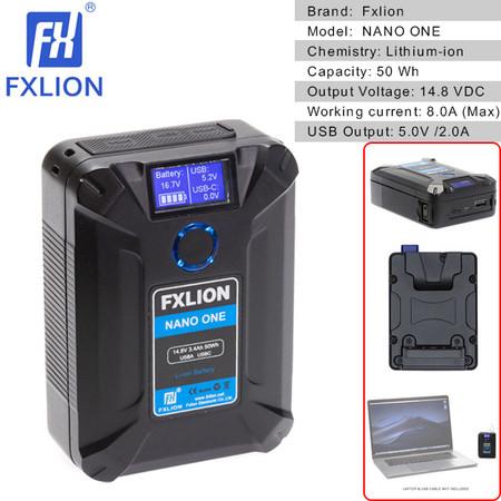 Fxlion NANO ONE 50Wh 14.8V V-Mount Battery with USB Output