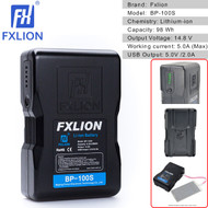 Fxlion BP-100S Cool Black 98Wh 14.8V V-mount Battery with USB Output