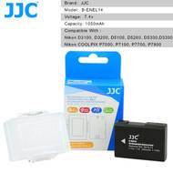 JJC Rechargeable Battery EN-EL14 for Nikon D3100, D3200, D5100, D5200