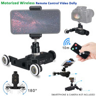 Fotolux C00608 Mini Track Motorized Wireless Remote Control Video Slider Dolly for GoPro , Smartphone , Camera