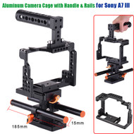 Fotolux Aluminum Camera Cage with Handle & Rails for Sony A7, A7II , A7III, A7SII, A7M3, A7RII, A7RIII