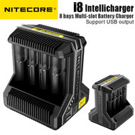 Nitecore i8 Multi-slot Intellicharger Battery Charger for AA , AAA, 18650 ,26500 (8 battery slots , USB output)