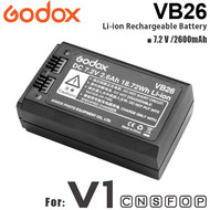 Godox VB26 Li-ion Rechargeable Battery for V1 Round Head Flash(2600mAh , 7.2V)
