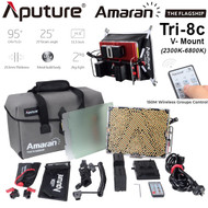 Aputure Amaran Tri-8c 600W Bi-Color Video LED Light with V-Mount Battery Plate (2300-6800K , 888 LEDs , 2.4G 150M Wireless Control)