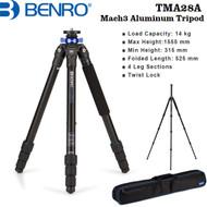 Benro TMA28A Mach3 Series 2 Aluminum Tripod (4-Section, Twist Lock, Max. Load 14 kg)