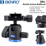 Benro IN0 Double Action Ball Head with PU50 Quick Release Plate (Max Load 6 kg)