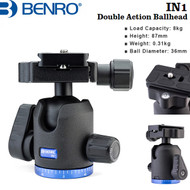 Benro IN1 Double Action Ball Head with PU60 Quick Release Plate (Max Load 8 kg)